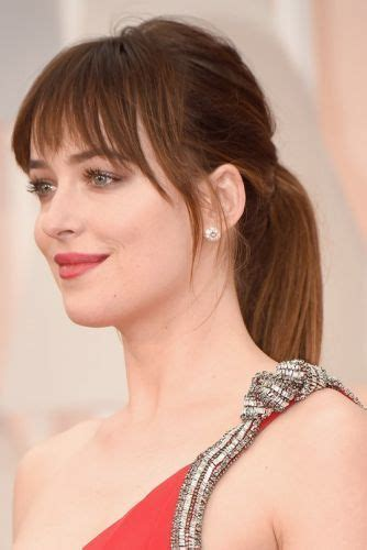 how to get bangs like dakota johnson 8 dakota johnson hair 50 shades of gorgeous hairstyles