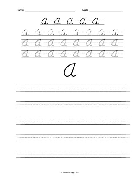 printable handwriting worksheets d nealian d nealian cursive letters upper case letter a practice