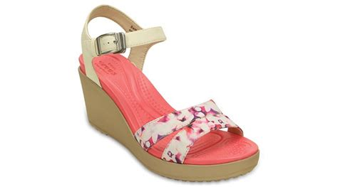 crocs leigh ii ankle graphic womens wedge sandal ebay