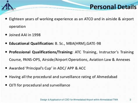 Mba Airline And Airport Management Course Details by Design Application Of Cdo For Ahmedabad Airport Within