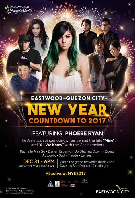new year celebration eastwood american singer phoebe top opm acts and djs banner