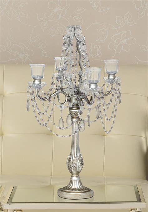 silver wedding candelabras on sale candelabra
