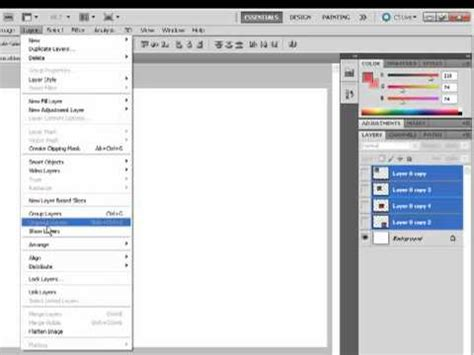 photoshop cs5 layers tutorial pdf group layers ungroup layers hide and show layers