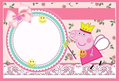 peppa pig invitation card template peppa pig invitations make smile