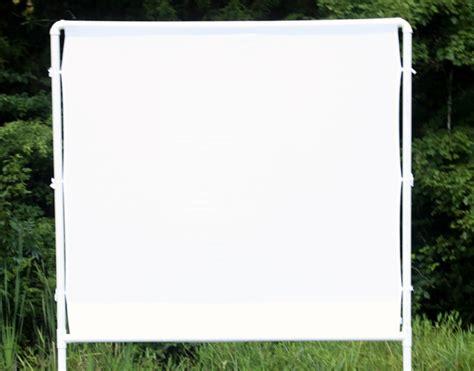 diy outdoor projection screen how to make an easy diy outdoor screen