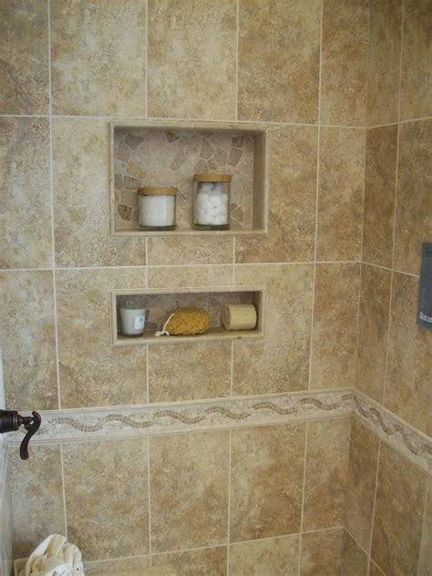 built  shower shelves   practical   storing
