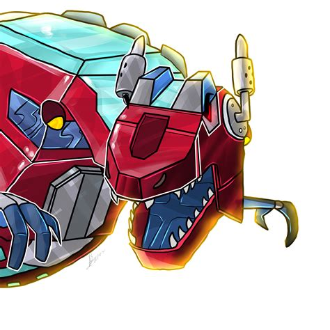 dino s sports fan transformers rescue bots dinobot optimus prime by