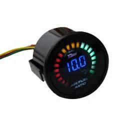 Fuel Meter Bensin universal 2 quot 52mm air fuel black shell 12v led