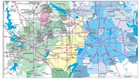 map of keller texas keller area map
