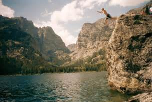 Cliff Jumping Grand Tetons Cliff Jumping On Like This