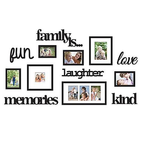 9 piece family tree wall photo frame set hanging frames wallverbs 13 piece quot family is quot photo frame set in satin