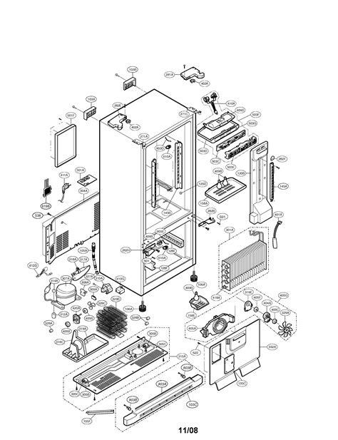 LG BOTTOM-MOUNT REFRIGERATOR Parts   Model lfc23760st00