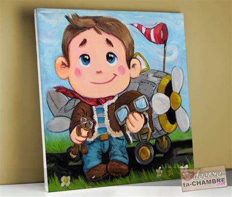 tableaux chambre enfant tableau pour enfant frimousse pilote avion vente tableau