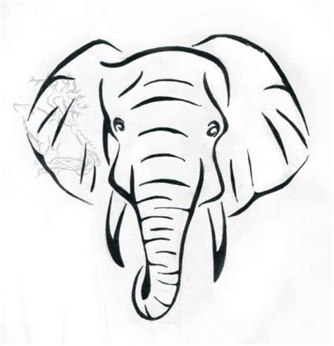 pattern elephant head drawing elephant drawing that would make a great embroidery