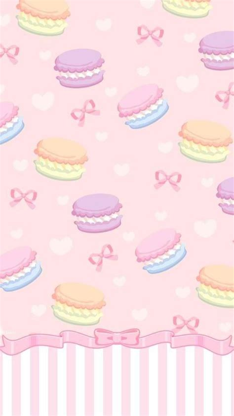 cute macaron pattern macarons iphone wallpaper iphone backgrounds pinterest