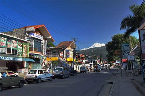PHOTO: Main street of Lakeside in Pokhara, Nepal