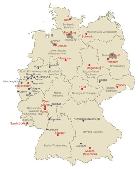 germany maps map of germany solution conceptdraw