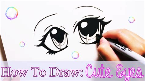 how to draw cute anime eyes for beginners youtube