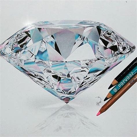 diamond tattoo and custom art realistic diamond drawing by parvaaz check out our