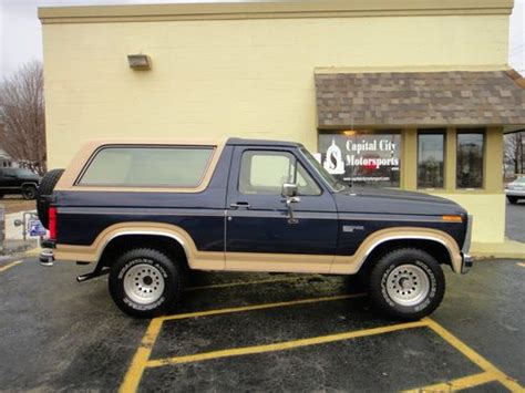 1985 ford bronco interior sell used 1985 ford bronco eddie bauer sport utility 2