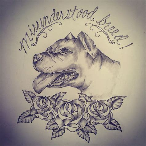 pitbull tattoo designs pitbull sketch drawing by ranz