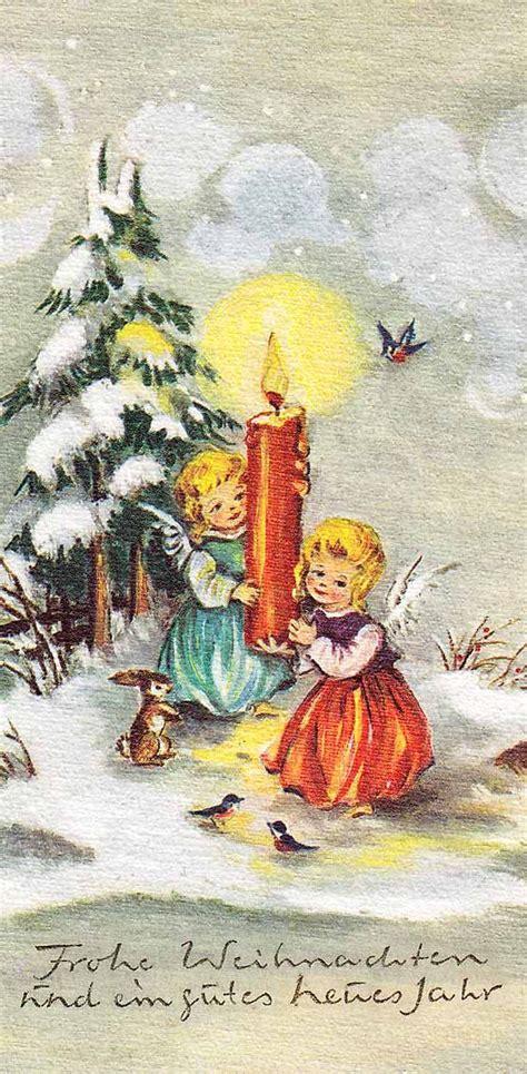 christmas cards german christmas and vintage christmas