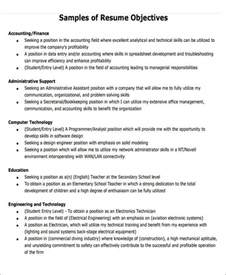 Generic Resume Objectives Generic Resume Objective 5 Examples In Word Pdf