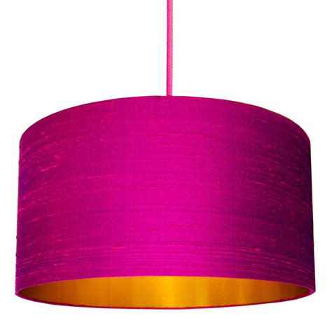 60cm drum l shade pink silk shade with copper or gold lining by love