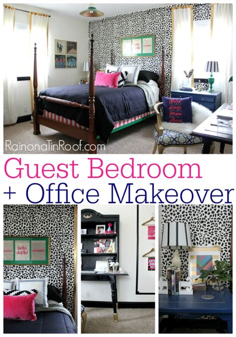 office bedroom ideas chic guest bedroom and office reveal