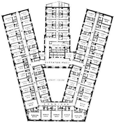 hotel guest room floor plans the statler hotel typical guest floor plan