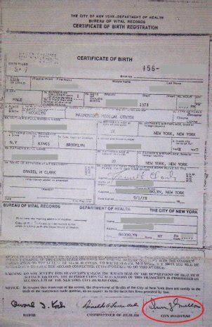 City Of New York Vital Records Birth Certificates Nyc Birth Certificates For Foreign Use