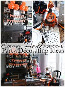 Simple Halloween Decorating Ideas Easy Halloween Party Decorating Ideas Amp Printable Banner