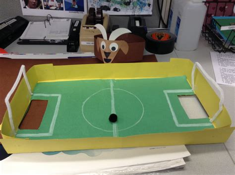 How To Make A Football Field Out Of Paper - soccer craft make your own soccer field soccer