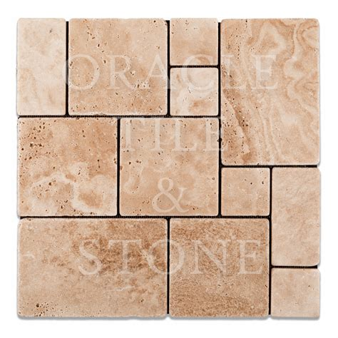 tile pictures andean vanilla travertine opus mini pattern mosaic tile
