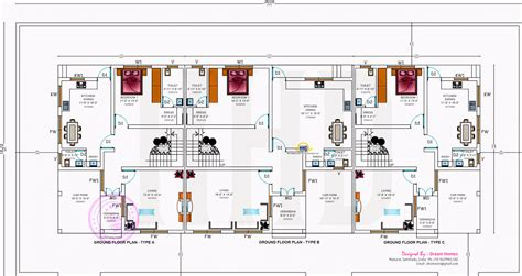 row house plan and elevation row house plans and elevation home photo style