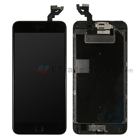 apple iphone 6s plus lcd assembly with frame and home button black etrade supply