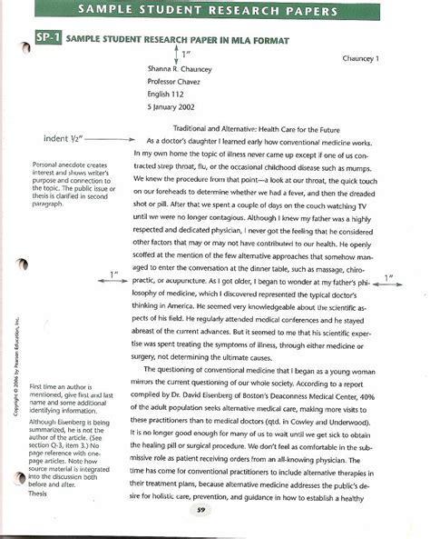 Work In School Essay by Apa Format For College Papers Research Paper Sle Format Learning Ideas