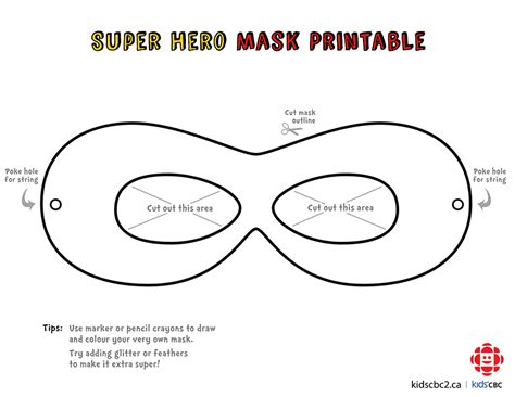 mask template pdf make your own awesome mask explore