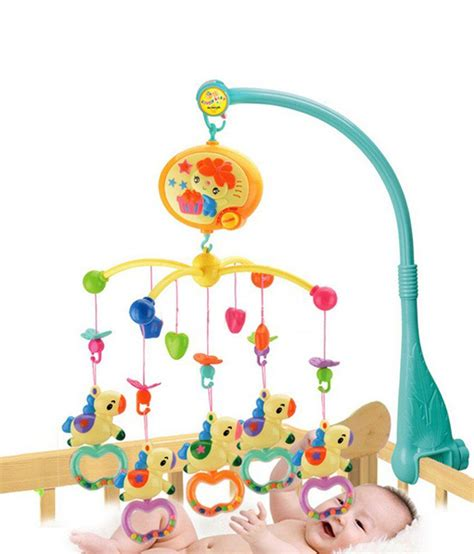 Baby Musical Toys For Crib by Goappugo Multicolour Crib Cot Baby Musical Mobile Hanging
