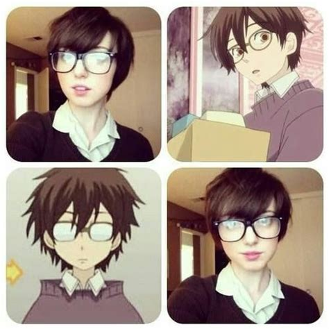 how tohi lite shirt pixie hair haruhi fujioka anime and vocaloid pinterest cosplay