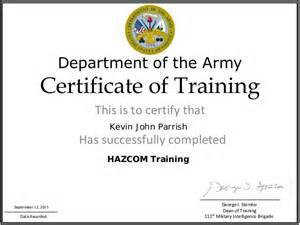 combat lifesaver certificate template hazcom trainig