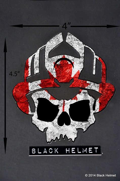 Helm Sticker Feuerwehr by Flag Of Canada Skull Logo Vehicle Decal Black Helmet