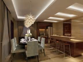 creative ceiling and lighting design for dining room and