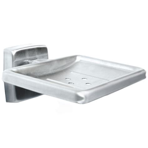 bradley 9014 soap dish in satin stainless steel bathroom