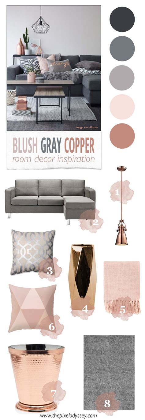 decoration inspiration blush gray copper room decor inspiration room decor