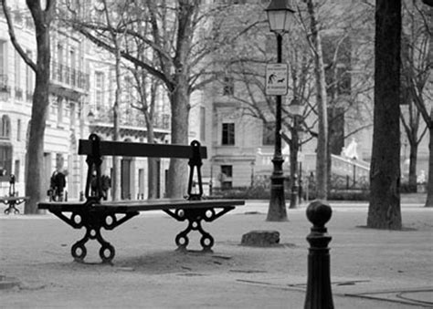 paris park bench black white where s matthew