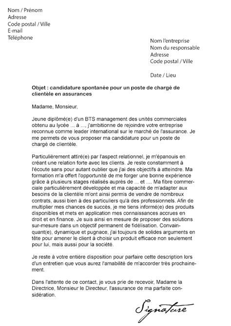 Exemple Lettre De Motivation Organisation Internationale modele lettre de motivation charg 233 de clientele contrat