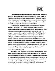 Architecture Essay by Through Out This Essay The Architecture The Byzantine Religious Architecture As Well As