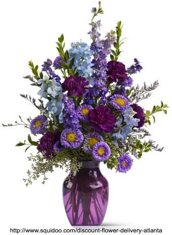 Discount Flower Delivery by Atlanta Discount Flower Delivery Purple Bouquet Www