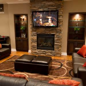 family room decorating ideas with fireplace actual home